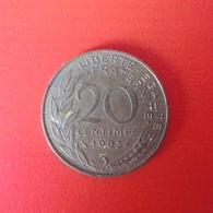 20 Centimes Münze Aus Frankreich Von 1983 (sehr Schön) - France