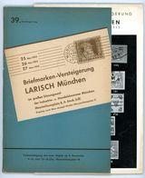 39. Larisch Auktion München 1953 - Früher Katalog - Catalogi Van Veilinghuizen