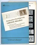 40. Larisch Auktion München 1954 - Früher Katalog - Catalogi Van Veilinghuizen