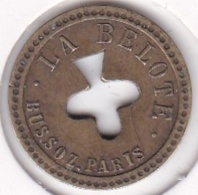 Jeton De Nécessité - Jeu De Comptoir De Bistrot. 50c à Consommer / La Belote - Trèfle. - Monétaires / De Nécessité