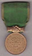 Médaille Société De Secours Mutuels D Herblay, Fondée Le 4 Aout 1889 – Inauguration Le 15 Aout 1889 - Professionnels / De Société