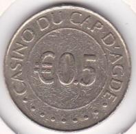 Jeton Casino Du Cap D Agde  0,5 Euro. Hérault. - Casino