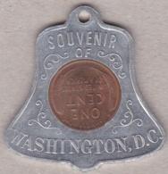 Médaille Souvenir Of WASHINGTON D.C. En Aluminium Avec One Cent 1930 - USA