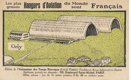 Aerodrome Orly Art Card Airport  Signed Bruyer Animateur Des Temps Nouveaux Louis Nathan Forest Judaica - Aerodromes