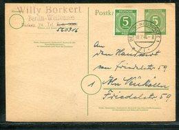 All.Besetzung / 1946 / Steg-Stempel Berlin-Weissensee Auf Postkarte (18198) - American,British And Russian Zone