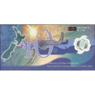 TWN - NEW ZEALAND 190b - 10 Dollars 2000 Polymer - Comm. New Millennium - Prefix NZ - Signature: Brash - Folder UNC - New Zealand