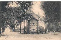 Cpa 79 Coulonges  Route Neuve Avenue De La Gare - Coulonges-sur-l'Autize
