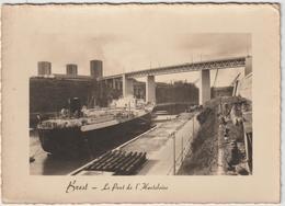 Finistère ;  BREST :  Le  Pont De L '  Harletoire , Bateau  Paquebot (  La  Seine - Havre ? ) - Brest