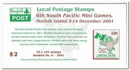 Norfolk Eiland 2001, Postfris MNH, Owl, Flag ( Booklet, Carnet ) - Norfolk Island