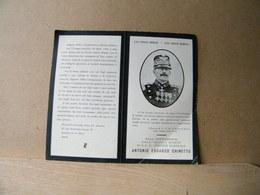 MONDOSORPRESA, (ST517) SANTINO DEDICATO ALL' ANNIVERSARIO DEL GENERALE ANTONIO EDOARDO CHINOTTO, MILITARE - Imágenes Religiosas
