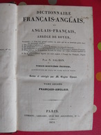 Dictionnaire Français-anglais. Abrégé De Boyer. Samon. Letendu Paris 1831 - Livres, BD, Revues