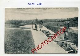 SEMUY-Ecluse-Canal-Peniche-CARTE Allemande-GUERRE 14-18-1WK-France-08- - Autres Communes