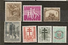 Belgique Belgium Various Bienfaisence M * - Stamps