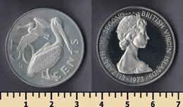 British Virgin Islands 50 Cents 1973 - Islas Vírgenes Británicas