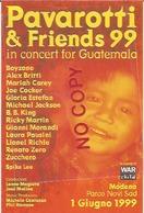 Pavarotti Luciano, Tenore Lirico, Annulli Concerto Modena 1999 Su Cartolina Pavarotti & Friends For Guatemala. - Cantanti E Musicisti