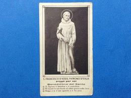 SANTINO HOLY CARD S FRANCESCO D'ASSISI PATRONO D'ITALIA S MARIA DEGLI ANGELI ASSISI PERUGIA - Santini