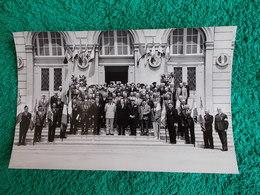 PHOTO ORIGINALE.ANCIENS COMBATTANTS.UNION DES MEDAILLES.MAIRIE NON SITUEE. - 1939-45
