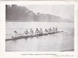 L'équipe De La Marne, Gagnante Du 40è Match Rowing-Marne - 19 X 14 Cm - Rowing