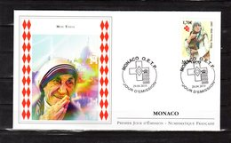 """"""" MERE TERESA """" Sur Enveloppe 1er Jour De MONACO De 2010. N° YT 2735. FDC - Mother Teresa"""