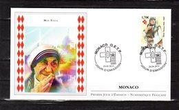 """ MERE TERESA "" Sur Enveloppe 1er Jour De MONACO De 2010. N° YT 2735. FDC - Mutter Teresa"