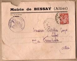 Vieux Papiers > Non Classés Enveloppe Mairie De Bessay - Unclassified