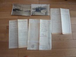 MARIN BATEAUX PAQUEBOTS NAVIRE MARINE NAUFRAGE 1912 ANTOINETTE  TROIT MATS DOCUMENTS MANUSCRIT PHOTO   LUCIEN DUTEIL - Boats