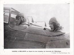 COSTES Et BELLONTE Au Départ De Leur Tentative De Traversée De L'Atlantique - 19 X 14 Cm - Deportes