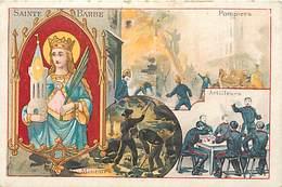 - Chromos-ref-chA157- Lervilles - Chicorée -  Bouchain - Nord / Sainte Barbe - Patron Des Sapeurs Pompiers Et Mineurs - - Tea & Coffee Manufacturers