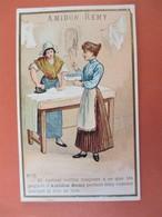 AMIDON REMY LION Belle Chromo N° 16 -Madame Et La Blanchisseuse Repasseuse - TBE - Chromo