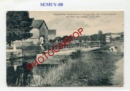 SEMUY-Canal Des Ardennes-Pont Tournant-CARTE Allemande-GUERRE 14-18-1WK-France-08- - Autres Communes