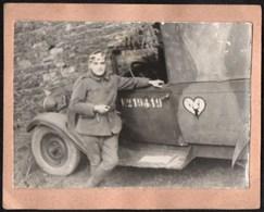 Vieux Papiers > Non Classés Petite Photo Camion Militaire Avec Une Tete De Cerf - Unclassified