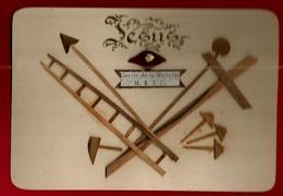 Image Pieuse Holy Card Sainte Claire De Jérusalem Grotte De La Nativité - Bois Collé échelle Croix Flèche Marteau ... - Santini