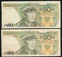 2 X 50 Zlotych  2scans - Pologne