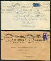 1943-6 South Africa X Machine Slogan Covers - USA / Australia. Censor Durban, Johannesburg, Port Elizabeth, Cape Town - África Del Sur (...-1961)