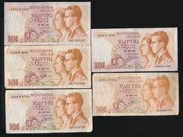 5 X 50 Frank    2 Scans - 50 Francs