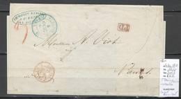 France -Lettre De SAINT DENIS - Réunion Pour Nantes - Cachet Rouge - COL FRA VIA SUEZ AMB - 1860 - Postmark Collection (Covers)
