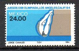 MEXIQUE. N°1049 De 1984 (neuf Sans Charnière : MNH). Plongeon. - Kunst- Und Turmspringen