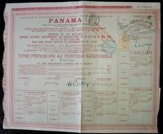 COMPAGNIE UNIVERSELLE DU CANAL INTEROCEANIQUE DE PANAMA . - Actions & Titres
