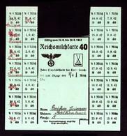 2461-GERMAN EMPIRE-MILITARY PROPAGANDA GERMAN Milk Rationing Coupons.1942.WWII.DEUTSCHES REICH.COUPONS DE RATIONNEMENT - 1939-45