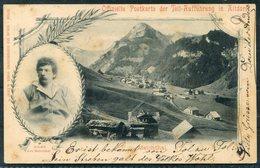 1899 Switzerland Offizielle Postkarte Der Tell-Aufführung In Altdorf. Erstfeld - Unterschachlen - 1882-1906 Coat Of Arms, Standing Helvetia & UPU
