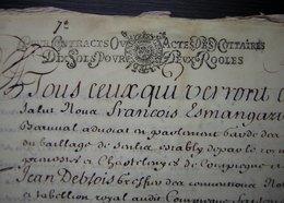 1687 Parchemin De Crespy ( Crépy En Valois) Ferme De Mermont, Vente Par Nicolas Guillebon à Marguerite De Billy 1/18eme - Manuscripts