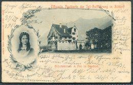 1900 Switzerland Offizielle Postkarte Der Tell-Aufführung In Altdorf. Arth - Wolfenschiessen - 1882-1906 Coat Of Arms, Standing Helvetia & UPU