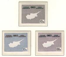 CYPRUS 1960 - Set MNH** - Unused Stamps