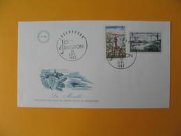 FDC Luxembourg   1967  Paysages Mosellans -  Principale Voie D'eau Du Grand-Duche     N° 708  Et 709 - FDC