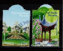 YV 4173 & 4174 Oblitérés Cachet Rond -  Jardins De Marseille - Unused Stamps