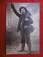 SOUVENIR DE MA CREATION DE CHEMINEAU CARTE PHOTO SIGNE CAZAUX . TOULOUSE ?? - Autres