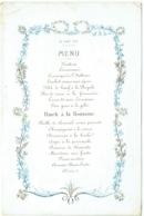 Menu Porcelaine. 1872. Huitres, Punch à La Romaine.... - Menu