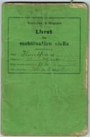 Militaria. Belgique. Livret De Mobilisation Civile. 1939. - Documents