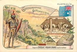 - Chromos-ref-chA146- Poulain - Blois - Loir Et Cher /geographie Pittoresque N°9 - Australie - - Poulain