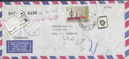 Iraq Irak RAFIDAIN BANK Registered Label MOSUL CITY 1968 Cover Brief DEUTSCHE BANK, KÖLN Germany Tag Der Arbeit - Irak